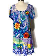 Jams World Size XL Dress Drop Waist Ruffle Floral Women's Pullover