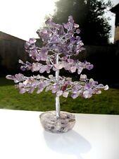Large 300-Leaf Amethyst HEALTH Crystal Bonsai 22cm Gemstone Tree On Orgone Base