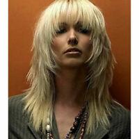 Femmes Perruque Blonde Longue Bouclée Perruques Naturel Ondulé Cheveux Cosplay