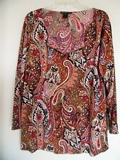 INC INTERNATIONAL Concepts  Multi Sparkly  3/4 Sleeve  Knit Top Shirt  Size 2X