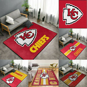Kansas City Chiefs Rectangle Area Rugs Living Room Bedroom Carpet Non-slip Mats