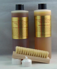 LEATHERIQUE REJUVENATOR OIL PRESTINE CLEAN 16OZ KIT TAMPICO BRUSH FLIP TOP CAPS