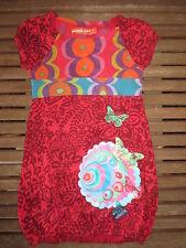 Robe DESIGUAL manches courtes été fille papillon 4 ans coton