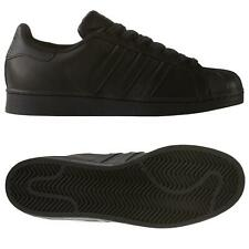 adidas ORIGINALS MEN'S BLACK SUPERSTAR TRAINERS SHOES SNEAKERS SHELL TOE RETRO