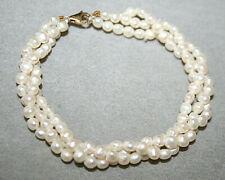 Perlen-Armband 3-reihig - 585 Goldverschluß