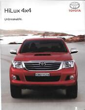 TOYOTA HILUX 4 X 4 SR AND SRS AUSTRALIAN SALES BROCHURE LATE 2000's