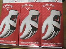 Qt. of 6 Callaway Chev 18 Ladies Golf Gloves- Right Hand- Size Large- *NEW*
