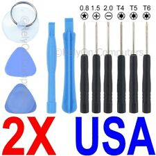 2 Sets Of 11-in-1 Tool Kit Torx T4 T5 T6 + More For Cellphone / Tablet Repair