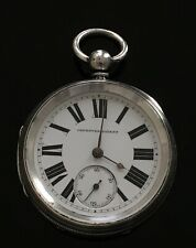 Victorian Fusee Improved Patent Silver Pocket Watch c.1891 / montre gousset