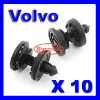 VOLVO S40 V50 DOOR PANEL CARD TRIM CLIPS PLASTIC INTERIOR X10
