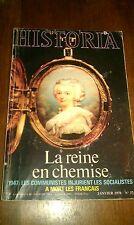 HISTORIA 374 REINE EN CHEMISE JANVIER 1978 DO DE MAYO VERCINGETORIX MARIE ANTOIN