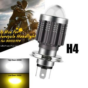 H4 9003 HB2 LED Bulb Hi/Lo Beam HID White Yellow Motorcycle Headlight High Power