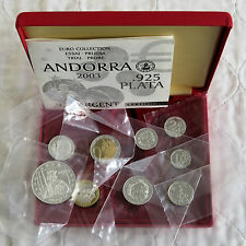 Andorre 2003 9 pièces argent proof euro prototype pattern set-mint sealed