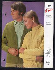 c1960s Knitting Pattern: Emu 4507: His & Hers Cardigans