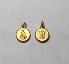 10 Karat Yellow Gold Miraculous Virgin Mary 8mm Baby Medal