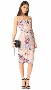 NWOT Black Halo Clover Sheath Dress Size 10 Lavender Floral