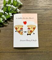Pizza And Puns, Silly And Cheesy Happy Birthday Handmade Greeting Card