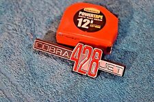 """ONE - """" COBRA 428 JET """" Chrome, Red and black emblem  69 Shelby Mustang"""
