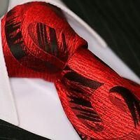 Krawatte Krawatten Schlips Binder de Luxe Tie cravate 101 Rot Paisley