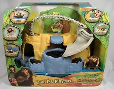 THE CROODS TAR PIT PLAYSET GRUG ACTION FIGURE MISP FISHER PRICE 2013 VERY RARE