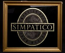 Rare Simpatico Beer from Mexico Glass Framed Sign