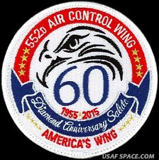 USAF 552nd AIR CONTROL WING - 60th ANNIVERSARY- Airborne Command -ORIGINAL PATCH
