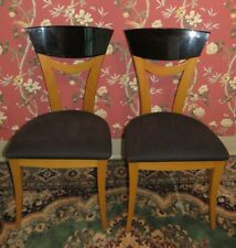 Pair of Constantini Pietro High Back Designer Accent Chairs Made in Italy
