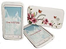 DESIGN No.5 SILIKON TPU COVER CASE  + Displayschutzfolie für HTC ONE X