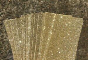 Glitter Card  A4 (210 x 297mm) Approx. 250gsm - GOLD 4 Pk