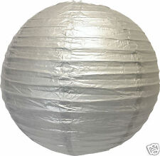 "3 19"" & 6 Silver 10"" Paper Chinese Lantern Shade Wedding Decoration Supplies"