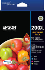 EPSON 200XL GENUINE INK VALUE PACK  2.5X MORE PRINTS  BRAND NEW