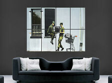 BANKSY GRAFFITI POSTER STREET WALL SOLDIERS THIEVES  ART LARGE IMAGE HUGE GIANT
