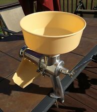 Vtg Unbranded Strainer Juicer Puree Baby Food Apple - Tomato Sauce W Instruction