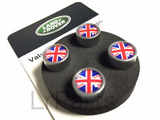 Land Rover Tire Valve Cover Red & Blue Union Jack Design Set Genuine LR027664