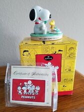 """Snoopy Hallmark Limited Gallery Figurine """"Cookies for Santa"""" mint in box"""