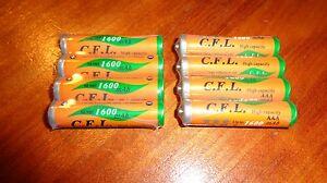 8 Ni-MH AAA Rechargeable Batteries for Panasonic KXTG Phone HHR-4DPA HHR-55AAABU