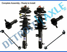 (2) NEW Front Complete Assembled Struts + Sway Bars + Outer Tie Rods for Focus