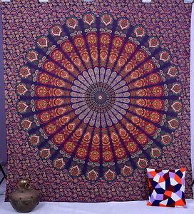 Mandala Indien Coton Mural Tapisseries Hippie Tenture Murale Reine Jeté de Lit