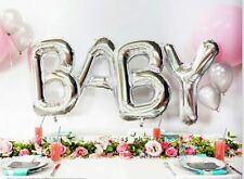 Silver Baby Letters Kit Foil Supershape Balloons -Baby Shower Decoration balloon