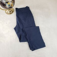 CUBAVERA Mens Luxury Linen Casual Pants Jeans Dress Blue Sz 32/30 Retail $180