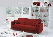 divano 3 posti prontoletto letto in tessuto con contenitore salotto divani letto