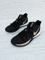 SIZE 18 MEN'S NIKE KYRIE 5 BLACK GOLD BASKETBALL SNEAKERS AO2918-007 CASUAL