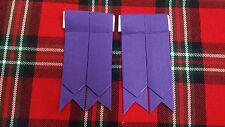 TC pour hommes flashes CHAUSSETTES DE KILT Violet écossais /
