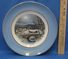 Vintage 1979 Enoch Wedgwood Collectors Plate Avon Christmas Dashing Through Snow