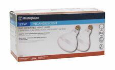 Westinghouse  125 watts R40  Incandescent Light Bulb  Clear  Heat Lamp  2 pk