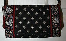 Vera Bradley Classic Black Tri-Fold Wallet