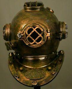 Nautical Antique Mark V Deep sea Marine Diverse Helmet - Vintage diving helmets