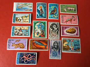 15 timbres neufs ** Afars et Issas 1972/1973   Lot 7