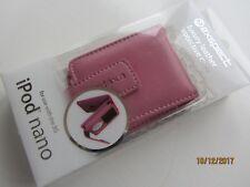 Exspect Ipod Nano 3RD generación, Estuche Abatible de Cuero de lujo Rosa (totalmente Nuevo En Caja)