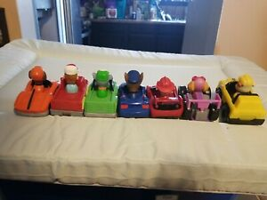 Lot of 7 Paw Patrol Racers Race Cars Complete Set